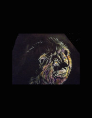 Lion of Color Blk Granite Detail