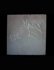 Stallion Carving Lime Stone 12 X 12   900.00